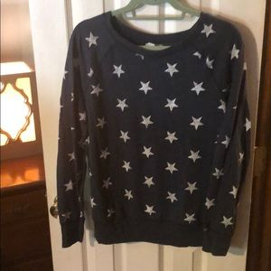 Navy sweatshirt with white stars